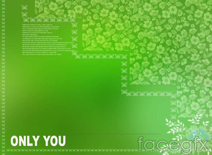 Fresh and beautiful leaves stationery templates PSD