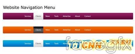 Graphic design Web Design menu navigation footage PSD