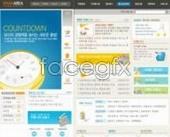 Business website template clock PSD