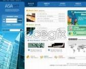 Corporate website building map templates PSD