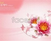 Flowery background PSD