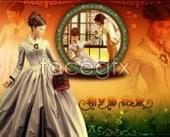 Mirror flower wedding template PSD