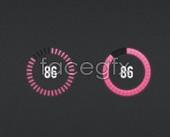 Pink circular progress bar PSD