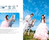 PSD wedding album template