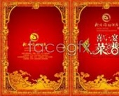 Recipes cover the wedding banquet menu PSD