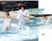 Romantic beach theme PSD wedding template