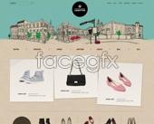 Shoe fashion shopping site PSD