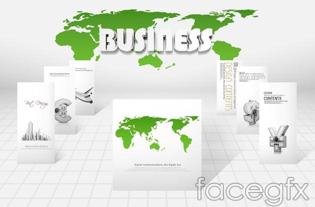 Business PSD  world map free
