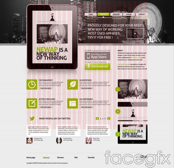 External APP  page PSD