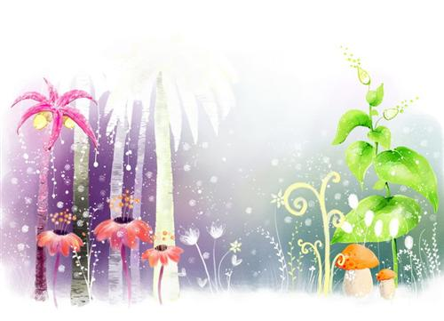 PSD cartoon fantasy plant