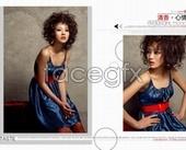 Fashion magazine photo album PSD