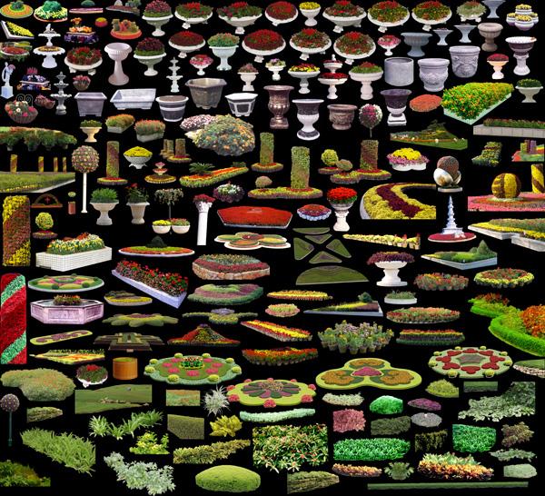 Gardening flower gardens collection large design source files PSD