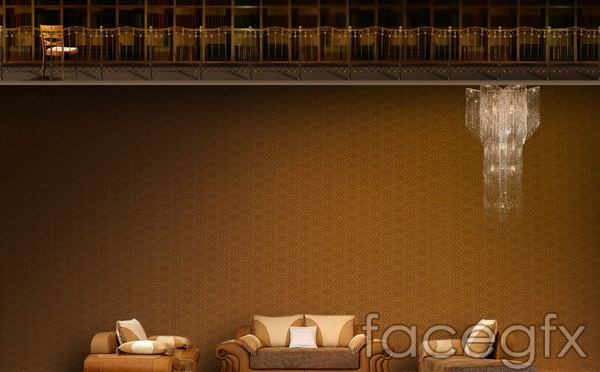 Home leather sofas design effect drawing of PSD