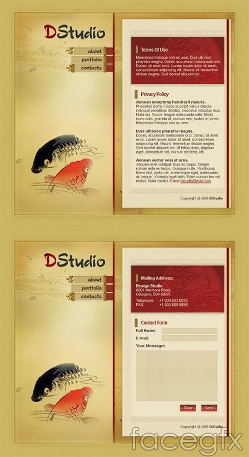 Template design PSD