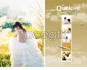 Beautiful and romantic wedding photography PSD