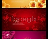 Beautiful Korea flower background hierarchy template PSD