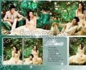 Happy Wedding Photo Studio Templates plants flower PSD
