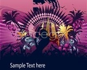 Trend flower pattern background design source files PSD