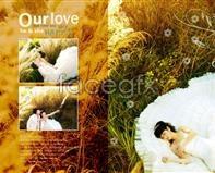 Wedding template effect of grass PSD