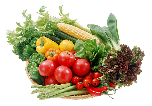 Various vegetables celery corn ingredients PSD