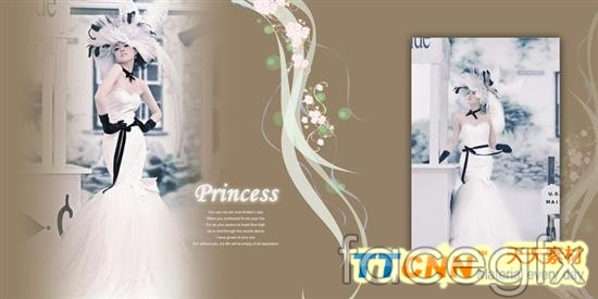Beautiful wedding album design templates PSD