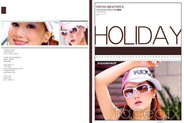Beauty magazine covers PSD