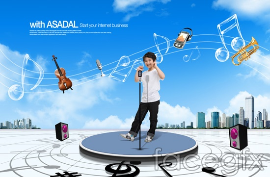 Korea children talented musicians violin sound PSD