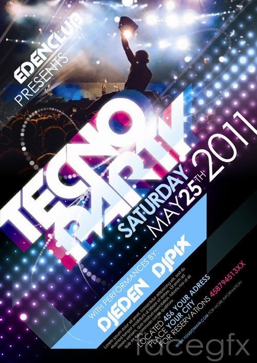 KTV gorgeous nightclub entertainment posters PSD