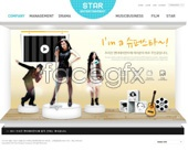Korea agency page PSD
