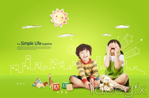 Child smiley PSD poster