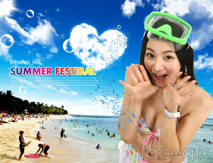 Hot Beach PSD