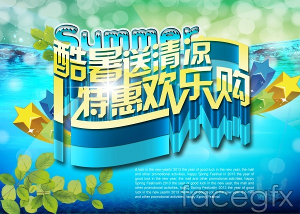 Summer fun-purchase posters PSD