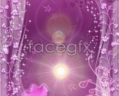 Fantasy purple flower PSD