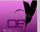 Fine purple  graphic design fashion PSD