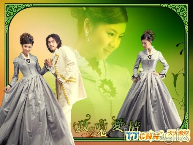 Wedding Photo Studio template floral skirt PSD