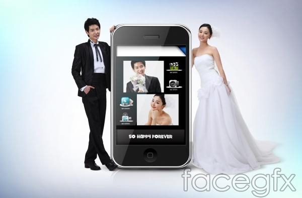 2013 Korea happy wedding PSD
