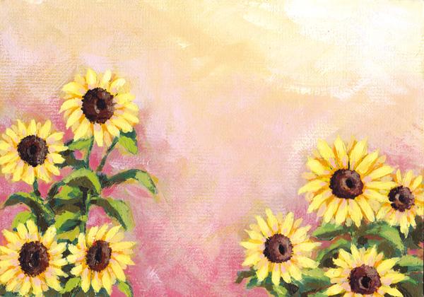 Korea Sun flower designs  templates PSD