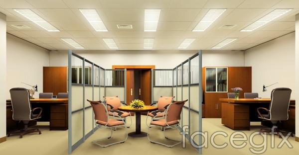Office design effect  templates PSD