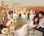 Cozy indoor wedding fashion photo templates PSD