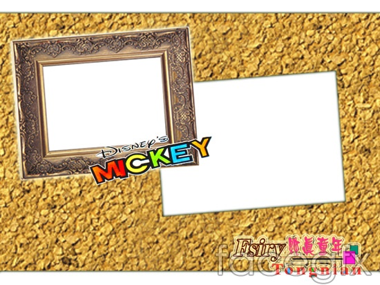 Child template photo frame PSD