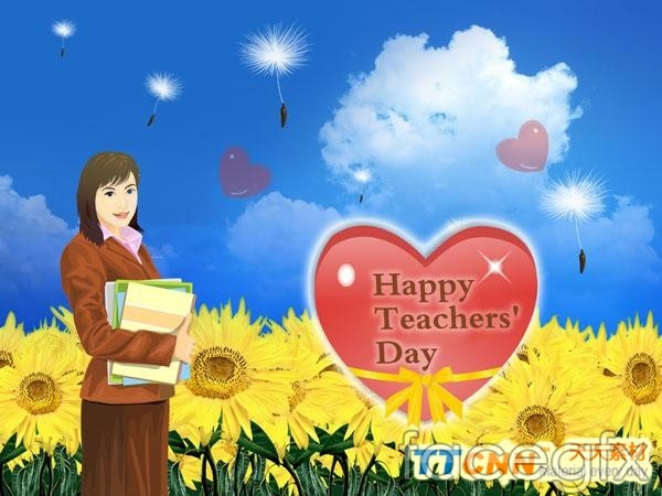 Teachers ' Day card 9.1 PSD 2