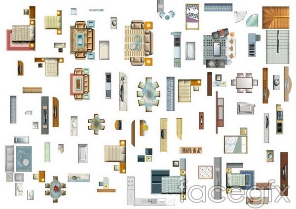 Graphic design sofa decoration PSD