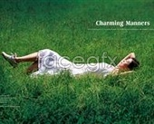 Leisure lawn and a woman sleeping beauty footage PSD