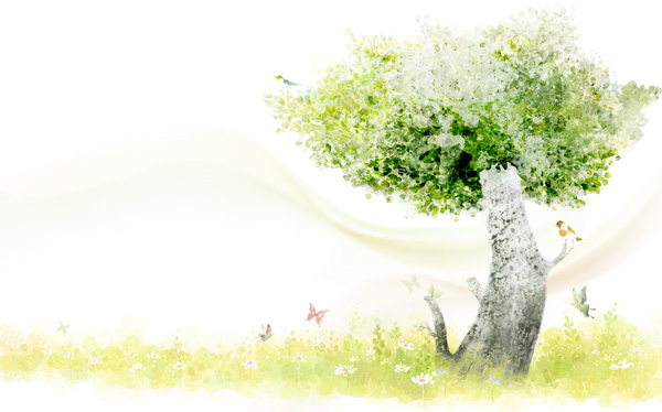 Fantasy Butterfly tree the source files PSD