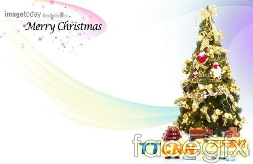Christmas tree snow PSD 2