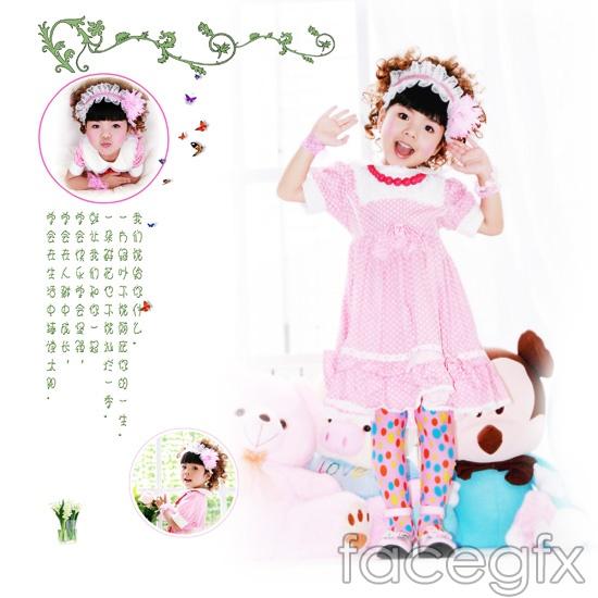 Happy Princess, child art photo templates [back] PSD
