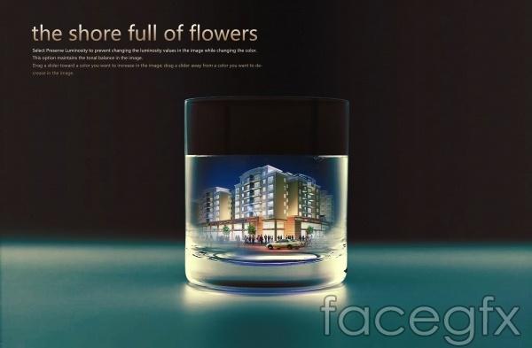Creative design  poster PSD real estate