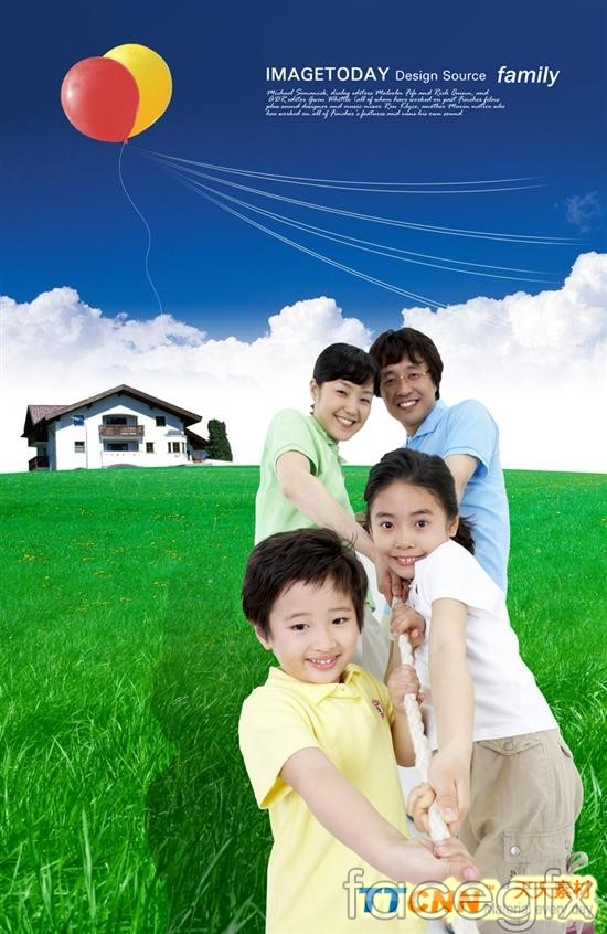 Korea family figures  templates PSD