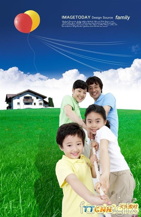 Korea family figures  templates PSD