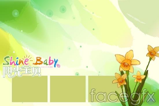 Sunshine baby Huashan child templates PSD